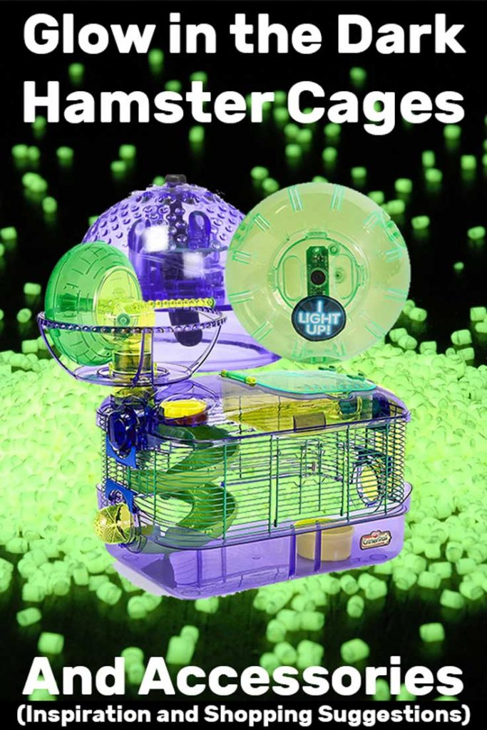 Glow in the Dark Hamster Cages & Accessories (Inspiration and Shopping Suggestions)